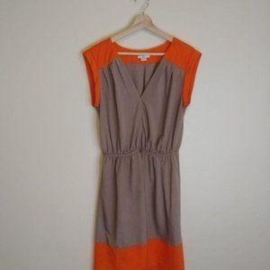 Bar III Orange & Grey Colorblock Dress